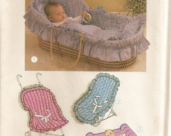 Simplicity 6718, Sewing Pattern, Babies Travel Accessories, Basket Liner, Mattress Cover, Baby Quilts, Baby Pillow, Changing Pad, Seat Cover
