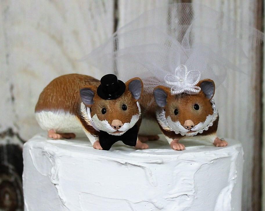 Hamster Cake Topper Wedding Cake Topper Animal Cake Topper Pet
