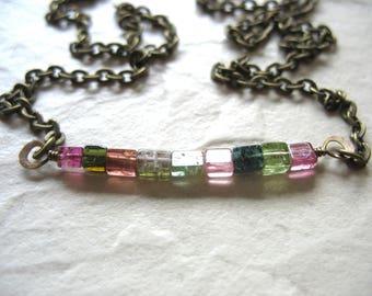 Tourmaline Necklace, Tourmaline Jewelry, Handmade Artisan Tourmaline Jewelry, Gemstone Necklace, Stone Necklace, Birthstone Jewelry