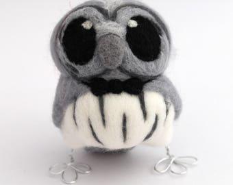 Sale A Most Dapper Grey Owl