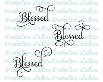 Fall SVG, Thanksgiving svg, Blessed SVG, png, jpg, DXF vector word art cutting file for silhouette or cricut digital cutting machine
