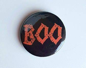 Happy Halloween, Halloween Badge, Halloween Favours, Boo Badge, Halloween Favors, Halloween Wedding, Bat Buttons, Halloween Pins