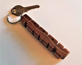 TERRY - Sample Name Keychain in Mahogany and Maple Woods