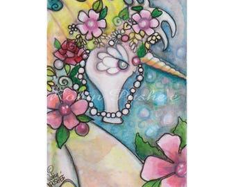 ACEO, Original, colorful , Unicorn of the Sea