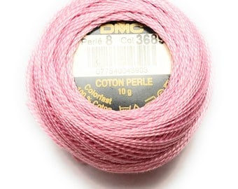 DMC 3689 -LT Mauve - Perle Cotton Thread Size 8