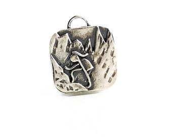 Hiking Gift Idea - Sterling Pendant - Hiking Gift - Outdoor Womens Fashion