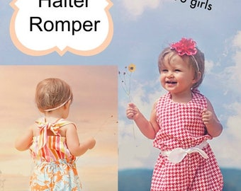 SALE Make This Cute Beach Comber Halter Romper With This Whimsy Couture Sewing Pattern PDF -- many sizes Instant Download