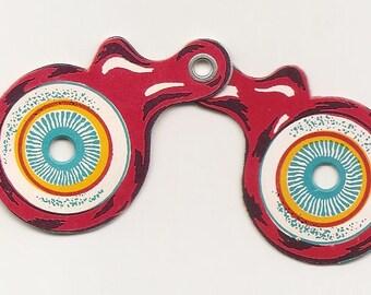 5 Vintage Carnival Ephemeral Paper Game Prizes crazy pair of eyeballs