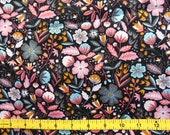 CUSTOM Reusable Cloth Menstrual Pad  - You Pick Backing - Organic Cotton Floral on Black*