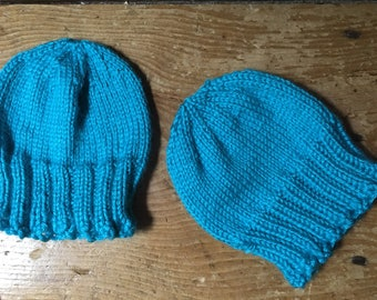 Newborn hats for twins hand knit twin infant caps 0-3 month super soft