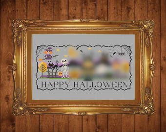 Tiny Modernist Halloween Stitch-A-Long