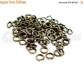 30% Retirement Closeout - Jump Rings, Antiqued Brass, 5mm, 19 Gauge, 100 Pieces, 5RI04-0002
