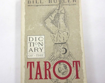 Dictionary of the Tarot Vintage 1970s Instructional Reference Book by Bill Butler