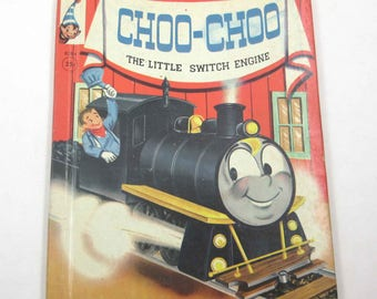 Choo-Choo The Little Switch Engine Vintage 1960s Rand McNally Anthropomorphic Children's Book Wallace Wadsworth Illustrator Mary Jane Chase