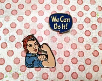 Rosie the Riveter Enamel Pin