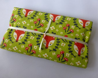Security Blanket or Doll Blanket - Foxy in Grass