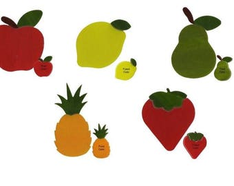 90 COE Glass Fruits Pre-Cut Apple Lemon Pear Strawberry Pineapple Choice Fusing