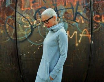ON SALE Tunic sweatshirt in cotton for women, long sweatshirts,tunic dress, organic cotton clothing,eco friendly