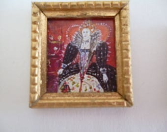 One 48th Scale prints (They are Tiny Wee!!) Queen Elizabeth 1st Tudor style !