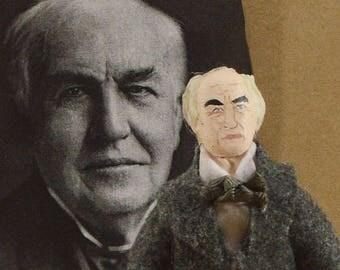 Thomas Edison Collectible Doll Scientific Inventor American Scientist