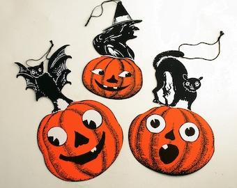 Halloween Die Cuts Decoration Jack O' Lantern Pumpkin Black Cat Bat Witch