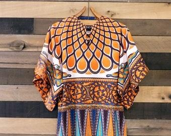 Vintage Dashiki Shirt   1970s Dashiki Tunic   Guru Tunic   Bell Sleeve Tunic   Tiki Oasis   70s Top   Cotton Tunic   Hippie Shirt