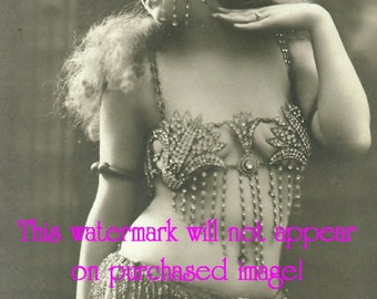 EXOTIC BELLY DANCER Old Vintage Antique Photo Reprint