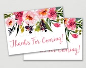 Pink Floral Thank You Tag...