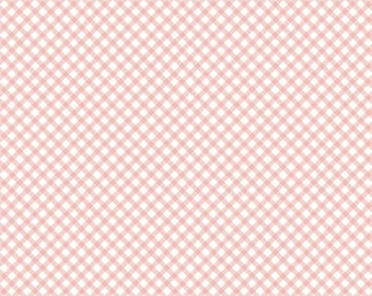 "ON SALE Penny Rose Fabrics ""Bunnies and Cream"" Pink Gingham"