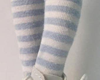 Powder Blue And White Striped Tights...For Blythe...