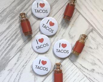 I Love Tacos Pin Badge
