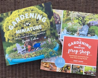 Snow Storm Special: Gardening in Miniature Book Set PLUS Shipping for USA! For Miniature Gardens & Fairy Gardens Photos Projects Janit Calvo
