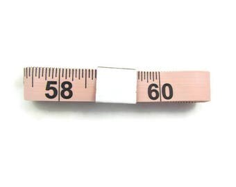 LIGHT PINK Tape Measure Flexible Fiberglass Fabric USA 60""