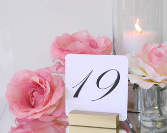 Gold Wedding Table Number Holders  (Set of 10)