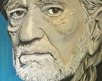 Willie Nelson original acrylic painting