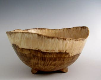 Wood Bowl - Chestnut Oak Burl Wood Turned Bowl - Housewarming Gift - Wedding Gift- Hand Made Wood Bowl - Wooden Bowl - Wood Turning Bowl