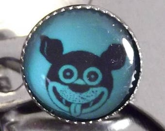 4 Mutt or Doggie Domed Shank Buttons - Dog Button - Mutt Button - Puppy Button