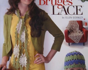 CLEARANCE Learn Bruges Lace Crochet Step by Step Instruction by Ellen Gormley for Annies Crochet