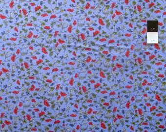ON SALE Timeless Treasures C4102 Posey Blue Cotton Quilting Fabric By Yard