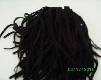 170 Mill Dyed Wool Rug Hooking Strips Primitive  Black