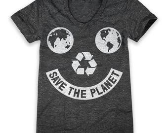 Save The Planet Smiley (Women's)