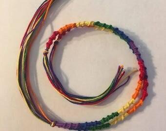 2 Gay Pride Friendship Bracelets