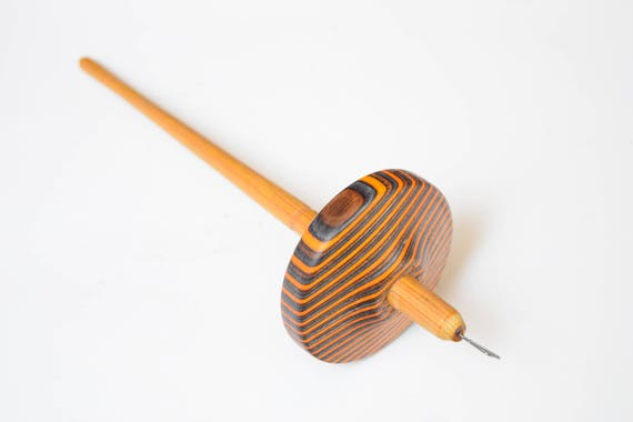 Top whorl drop spindle crafted from SPectraply and Canary wood 1.7oz