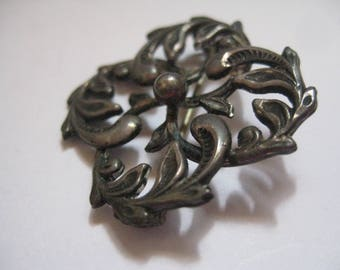 CB and H STERLING Victorian Art Deco Art Nouveau Style Pin