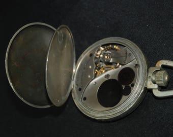 Vintage Pocket Watch Movement Case Body  Dial Face Steampunk X 100