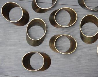 Modern Brass Napkin Holders (Set of 10)