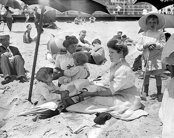 Beach Asbury Park New  Jersey 1910s Photo #2