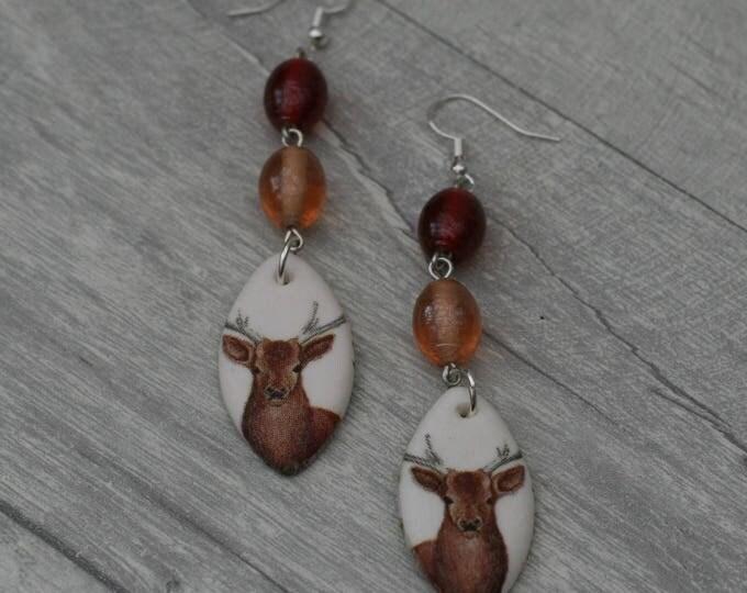 Deer/Fawn Statement Earrings, Animal Jewelry