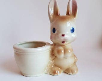Vintage Baby Bunny Planter * Nursery * Easter