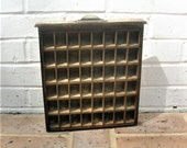 Antique Vintage Printers Wooden Tray Antique Vintage Printers Drawer Shadow Box Letterpress Tray 48 Sections